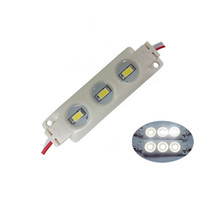 módulos led amarillo SMD5630 5730 Inyección de plástico ABS 3leds 1.5W DC12V Módulos led de alto lumen Backlights String White Warm White Red Blue
