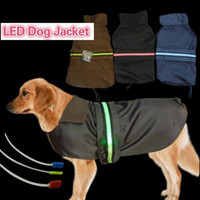 Wholesale Lead Jacket - Pet Fashion Series Dog accesseries large dog jackets waterproof Vest LED flashing strap 3 colors 7 sizes