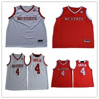 Wholesale Black Nc - Mens NC State Wolfpack College Basketball Custom #0 1 3 4 11 23 White Red Stitched Personalized Any Name Any Number Jerseys S-3XL