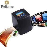 Wholesale Digital Film Converters - Wholesale- New Relliance EC717 5MP 10MP 35mm Film Scanner 3600DPI High Resolution Photo Copier USB Digital Converter LCD Slide Black