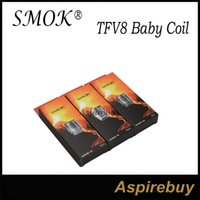 Wholesale Core Engines - SMOK TFV8 Baby Turbo Engines Replacement Coils T8 V8 Baby-Q2 Dual Core 0.2ohm V8 Baby-X4 Quadruple Core 0.15ohm V8 Baby RBA Head Two-Post