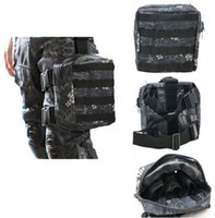 Wholesale Tactical Drop Leg Panel - Army Military Molle Tactical DUMP Drop Leg Panel Utility Pouch Paintball Airsoft Storage Magazine Pouch Waist Bag