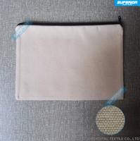 Wholesale Blank Zipper Bag - 1pc 7x10in 12oz Pure Cotton Coin Purse With Matched Lining Plain Casual Wallet With Nylon Zipper Blank Cotton Canvas Bag For Print & Paint
