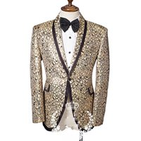 Wholesale Dance Costumes Male - Wholesale- male print casual jacket blazer singer dancer show DS dance costumes outerwear coat DJ jazz nightclub performance stage prom