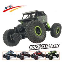 Wholesale Driving Toy Car - Wholesale-RC Car 2.4G 4CH 4WD Rock Crawlers 4x4 Driving Car Double Motors Drive Bigfoot Car Remote Control Car Model Off-Road Vehicle Toy
