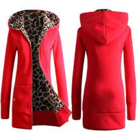 Wholesale Ladies Plus Size Cardigans - Warm Women Spring Winter Jacket Fashion Women's Coats Jackets for Lady Long Slim Hoodies Parkas Plus Size