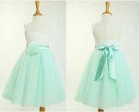 Wholesale Embroidery Baby Dress - Lace flower girl dress, mint green flower girl dress, tulle baby girl dress, toddler girl dress, country flower girl dress, short mint dress