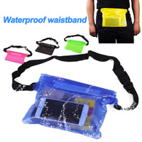 Wholesale Mobile Cover Waist - For Universal Waist Pack Waterproof Pouch Case Water Proof Bag Underwater Dry Pocket Cover For Cellphone mobile phone Samsung iphone money