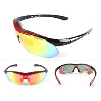 Wholesale Golden Group - Polarized Cycling Glasses Bike Outdoor Sports Bicycle Sunglasses Goggles 5 Groups of Lenses Eyewear Myopia Frame