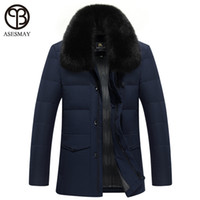 Wholesale Russian Coats - Wholesale- 2016 Winter Jacket Thick Coat With Fur Collar Brand Mens Clothes Duck Down Warm Parkas Wellensteyn Business Style Russian Coat