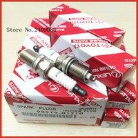 Wholesale Toyota Wholesale Japan - 10pcs lot GENUINE Auto Candle Denso SK20R11 90919-01210 Japan Original Iridium Spark Plugs for Toyota camry RAV4 Tundra Lexus