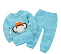 Wholesale Baby Fleece Hoodie Pants - 16 colors!Children Outfits Tracksuit cartoon Christmas deer Clothing baby girls Hoodie + Kid Pants Sport Suit Boys fleece Set AO65443