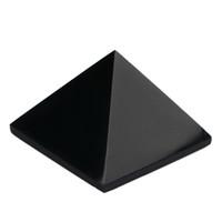 Wholesale amethyst healing stones - Amethyst Rose quartz Red jasper Black obsidian Engraved 1.5inch Pyramid stones carved healing Stone reiki Crystal free pouch