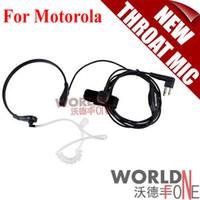 Wholesale Air Tube Earpiece Headset - Wholesale-FS! 2 Pin Throat Mic Microphone Headset Air Tube Earpiece for Motorola GP88 GP300 GP2000 CT150 Walkie talkie two way Radio