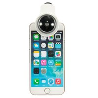 Wholesale Angle Eyes Led - Wholesale-Brand New 9in1 Clip-on Phone Selfie Speedlite 8 LED Flash Light Lamp Wide Angle Fish Eyes Lens Fill light For Cellphone 4Color