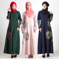 Wholesale Traditional women newest fashion muslim women flower islamic kaftan abaya dress various colors and designs