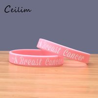Wholesale Silicone Breast Cancer Bracelets Wholesale - New arrivals fashion breast cancer awareness silicone bracelets for girls cute pink letter silica gel adjustable sports bracelet wholesale
