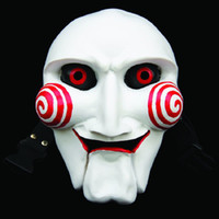 Movie Saw Cartoons Mascara de resina de horror Mascarada Cosplay Halloween Party Full Face Masks