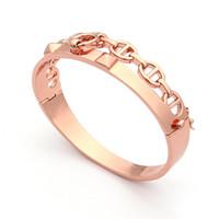 Wholesale rivet brass - Hot sales jewelry wholesale H two rivets hollow H bracelet pig nose bracelet foreign trade brass bracelet