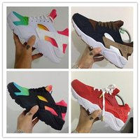 Wholesale Cotton Gifts For Men - Christmas gift 2017 hot sale Huaraches Ultra running shoes Triple white black Running trainers for men & women outdoors shoes size 36-46