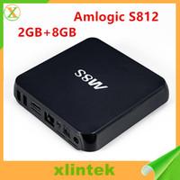 Wholesale Satellite Hd Tv Box - Full-HD M8S Android TV Box Media Player High Quality Satellite Cable TV Box Quad Core HDMI USB Smart Android TV Box