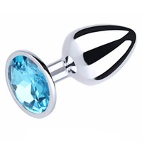 Wholesale Photo Toys - 100% Real Photo Small Size Metal Anal Toys Smooth Touch Butt Plug Stainless Steel Anal Plug Sex Toys Sex Products For Men
