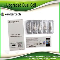 Wholesale genuine dual coils resale online - Original kanger upgraded dual coil replacement ohm Coil Head for kangertech EMOW Mega genuine dhl Free