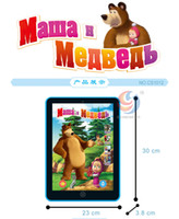 Wholesale Toys Ship Russia - Wholesale New Tablet Study Toys Masha Study of Russia Language Version Children's Intelligence Story Machine Free Shipping