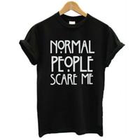 Wholesale Gen Print - Wholesale- Les Gens Me Font Peu Marque T shirt Casual Pour Lady Blanc Noir Tops T Hipster