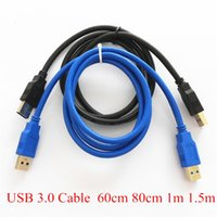 Wholesale Free Stock Data - Norm 60cm 80cm 1M USB 3.0 Cable AM AM 100CM USB 3.0 DATA Cable for PCI-E Riser Card FAST Blue Black FREE DHL In Stock