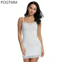 Wholesale Babydoll Lingerie Gown - Lingerie Sexy Erotic Dress Women Lace Mini Babydoll Chemise Sleepwear Nightwear Gown Full Slip Sex Costume Porn Underwear White