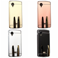 Wholesale Nexus Bumpers - For LG K8,K10,NEXUS 5,NEXUS 5X ,Stylus 2 plus Acrylic For HTC M10 10,A9,Bling Mirror Case+Aluminum Metal Bumper Luxury Hybrid Hard PC CoverS
