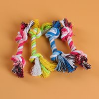 Wholesale Dog Bone Accessories - Dog Rope Fun Pet Chew Knot Toy Cotton Braided Bone Rope Dog Toy Durable High Quality Dog Accessories Drop Shipping
