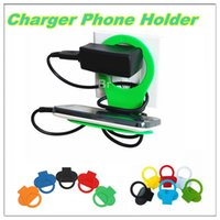 Wholesale Red Wall Shelf - Foldable Cell Phone Holder Cable Wrap Charge Charging Wall Holder Shelf Folding Portable Sturdy Travel Stand Cradle Caddy Charger