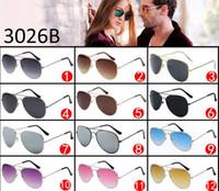Wholesale Cheap Polarized Sunglasses Wholesale - Cheap Price Classics Metal Frame Sunglasses Brand Designer Vintage Original Brand Sunglasses Men Classic glasses 12 Colours Available