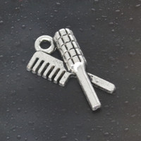 Come on Guys 120pcs tuck comb Charms Pandora Antique Silver Alloy Jewelry Fit For Bracelet Pendant Necklace ManWoman 20 * 12mm