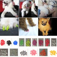 Wholesale Wholesale Pet Care Products - Pet Nail Sets Colorful Pet Nail Sets Cat Armor Products Dog Nail Sets Send Glue Fashion Novelty Cat Dog Armor Products HH7-147