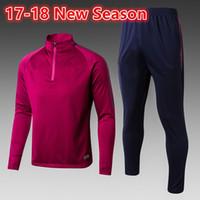 Wholesale Jersey Pant Kit - 2017 new MEN MC City Tranning KITS outfits Tracksuits Jacket Pants DE BYUYNE STERLING KUN AGUERO KOMPANY Wholesale jersey HOT
