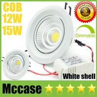 Super Bright CREE 12W 15W dimmerabile COB LED Downlights CRI88 85-265V inclinabile Apparecchio da incasso Cabinet soffitto giù luci di lampade CSA SAA UL