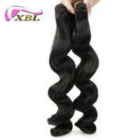cheveux péruviens d'expédition gratuite achat en gros de-Embrouillement gratuit sans cheveux péruviens libre vague lâche 2 pièces livraison gratuite Péruvienne cheveux humains extension