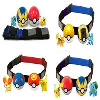 Wholesale N Figures - Clip 'N' Carry Poke Ball Belt action figure poke ball Pikachu with adjustable belt sets for boys girls kids cosplay props christmas toys