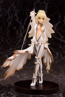 Wholesale Sebastian Anime - Children fun toys Anime Fate EXTRA Night white Sebastian Nero PVC Collectible Version Action Figure Model Toy 18CM free shipping