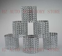 Wholesale Sashes Rings - Free shipping 100 Rhinestone Bow Covers New 8 Row - silver and other 8 colors wedding chair sash napkin rings wedding suppliers