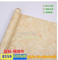 Wholesale Refrigerator Japan - Thick marble stove refrigerator cabinets refurbished furniture surface self-adhesive stickers wallpaper wallpaper waterproof cabinet -497