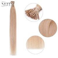 Neitsi 20inch 18 # I Наконечник для волос Keratin Stick Straight Human Hair 100% бразильский Remy Pre-bonded Hair Extensions 150pcs / lot