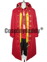 Wholesale one piece luffy costume - One Piece Cosplay Monkey D Luffy Zooty Red Costume Full Set H008