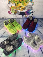 Wholesale Cheap Baby Winter Boots - [with Original box] Kids Kanye West 350 Boost LED sneakers baby Boots Shoes Running Sports Shoes booties toddler shoes cheap sneakers