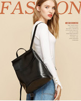 Wholesale Cheap Pink Backpacks - High quality leather backpack Ladies or girls travelling bags students styles casual bags multi-uses 27*35cm accepting OEM amazing cheap