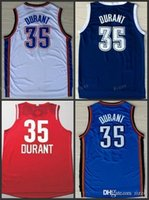 Atacado Men's Kevin Durant Jersey Navy Blue White Cheap Stitched 2017 New Orange # 35 Kevin Durant College boas Jerseys