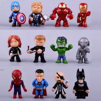 Wholesale Model Toys For Boys - 12pcs set new Avengers toys mini the Avengers Figures PVC model Hulk Thor action Toys Super hero toys gifts for boys